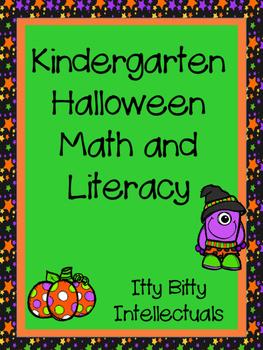 Kindergarten Halloween Math and Literacy