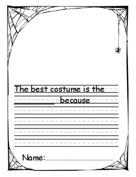 Kindergarten Halloween Opinion Writing