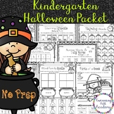 Kindergarten Halloween Packet | No Prep | ELA & Math