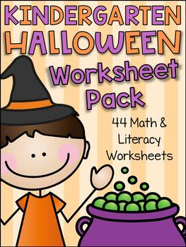 Kindergarten Halloween Worksheet Pack