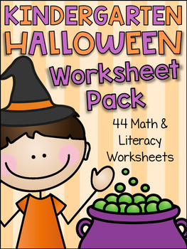 Kindergarten Halloween Worksheet Pack