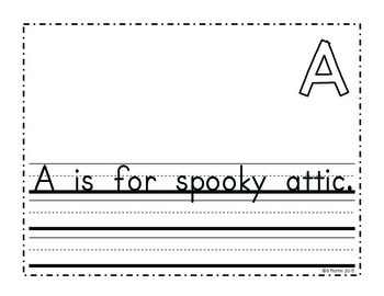 Kindergarten Halloween Writing Project