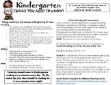 Kindergarten Hand-Out