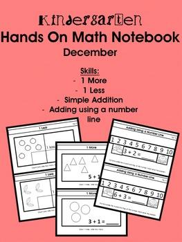 Kindergarten Hands On Math Notebook-  December