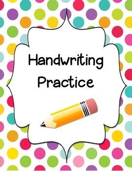 Kindergarten Handwriting Book