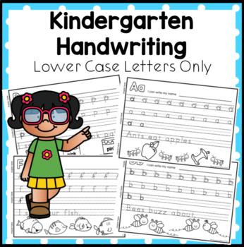 Kindergarten Handwriting Book - Lower Case Letters