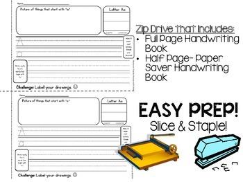 Kindergarten Handwriting Book {Slice & Staple Easy Prep} Word Study F&P