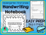 Kindergarten Handwriting Book {Slice & Staple Easy Prep} W