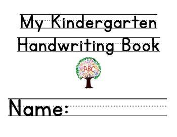 Kindergarten Handwriting Book Volume 1