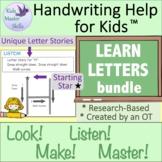 Kindergarten Handwriting Instruction BUNDLE - LEARN LETTER