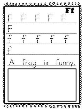 Kindergarten Handwriting Journal With Beginning Sentence Practice