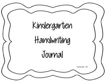 Kindergarten Handwriting Journal - similar to Handwriting Without Tears