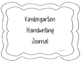 Kindergarten Handwriting Journal - similar to Handwriting