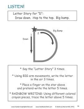 Kindergarten Handwriting - LEARN LETTERS Upper Case Workbook