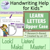 Kindergarten Handwriting - LEARN LETTERS Upper Case Workbook