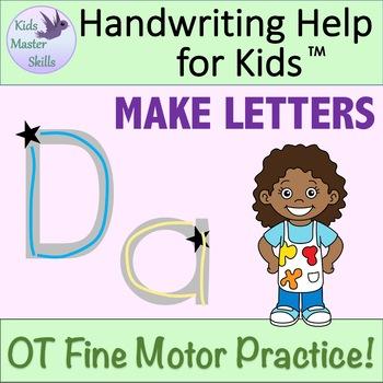 Kindergarten & Preschool Handwriting MAKE LETTERS - Upper and Lower Case