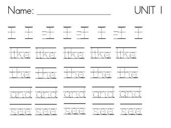 kindergarten handwriting practice by kayla lasserre tpt. Black Bedroom Furniture Sets. Home Design Ideas