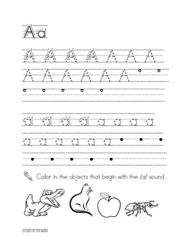 Kindergarten Handwriting Practice Book