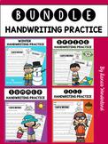 BUNDLE Seasonal Handwriting Practice (Sentences)