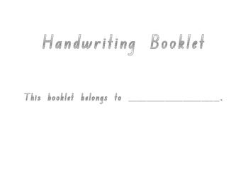 Kindergarten Handwriting and Poetry