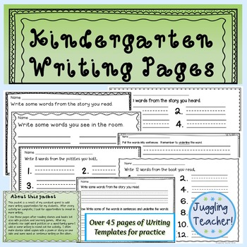 Kindergarten Handwriting for Young Writers (Fine Motor Improvement)