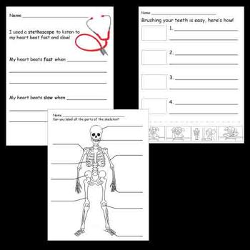 Kindergarten Health / Body / Nutrition Worksheets by ...