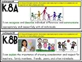 "Kindergarten Health TEKS ""I CAN"" Statements"