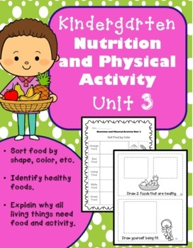 Kindergarten Health Unit for the Entire Year!! (Meets Common Core)