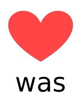 """Kindergarten """"Heart"""" Words"""