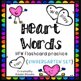 Kindergarten Heart Words - Sight Word Practice & Flashcard