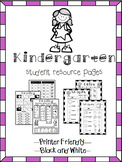 Kindergarten Help Pages for Reading and Math Folders, Homework Folder