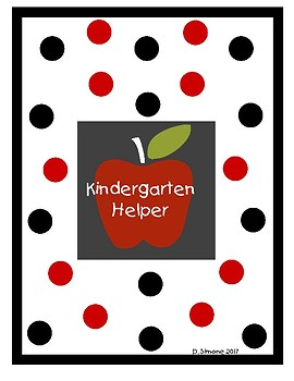 Kindergarten Helper - Reference Guide For Special Education and Gen Ed Students