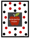 Kindergarten Helper - Reference Guide For Special Educatio