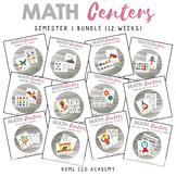 Kindergarten Heroes™ Kindergarten MATH CENTERS (Semester 1