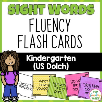 Kindergarten Sight Word Flash Cards Dolch