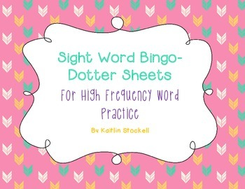 Kindergarten High Frequency Sight Word Practice!
