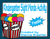 Kindergarten Popcorn High Frequency Words Activity Freebie