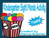 Kindergarten Popcorn High Frequency Words Activity Freebie