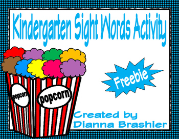 Kindergarten High Frequency Words 1-24 (Litearcy First)