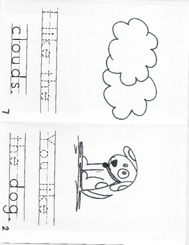 Set A- Kindergarten High Frequency Words Books #11-14 (Read, Trace, and Color)