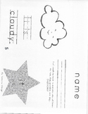Set A- Kindergarten High Frequency Words Books #15-18 (Read, Trace, and Color)