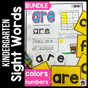 High Frequency Words Practice Bundle!  Colors, Numbers and Fry's HFW 1-30