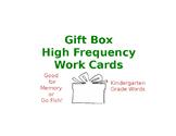 Kindergarten High Frequency Words Game
