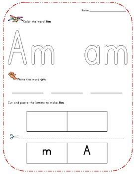 Kindergarten High Frequency Words, Set 2