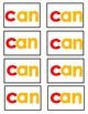 Kindergarten High Frequency Words for California Treasures (Student Cards)