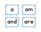 Kindergarten High Frequency Words for an English Word Wall