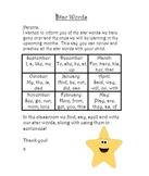 Kindergarten High Frequency or Star Words