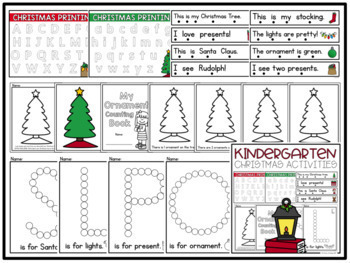 Kindergarten Holiday Activities BUNDLE