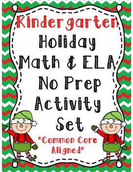 Kindergarten Holiday Math & ELA Activity Set *Common Core