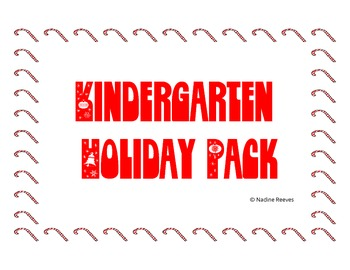 Kindergarten Holiday Pack
